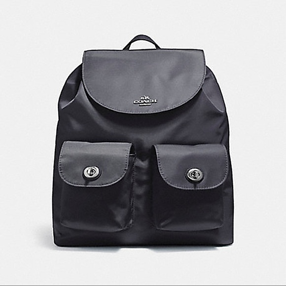 bceddc4b72 Coach Billie Nylon Backpack - Black